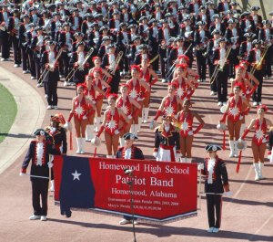 Homewood High School's Marching Patriot Band