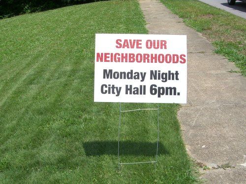 Save Our Neighborhoods Sign