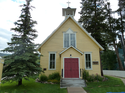 A church in Breckenridge, Colo.